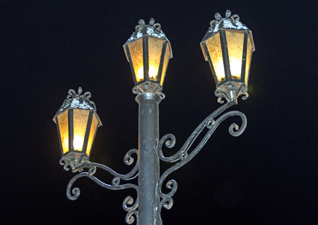 Bronze lantern of night sky Retro.