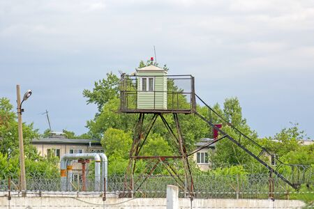 Prison fence and guard tower. Russia. Siberia Banque d'images