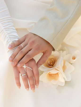 Just married! Hand to hand forever. Stock Photo - 2725147
