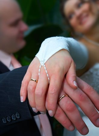 Happy Forever! A Bride and her MAN. Stock Photo - 2725151