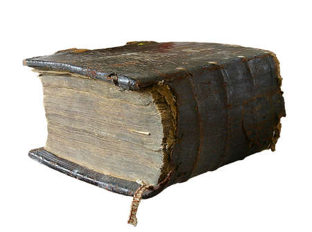 The ancient book in leather reliure on a light background Stock Photo - 874065