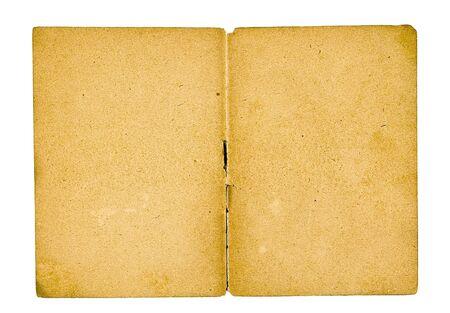cartas antiguas: Antiguo papel de los principios del siglo pasado en un fondo blanco