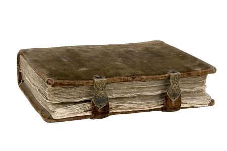 broadside: The ancient book on a light background Stock Photo