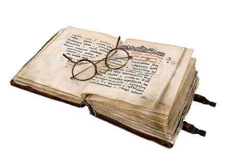 The ancient book on a light background Stock Photo - 893998