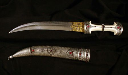 Smart dagger of the Turkish soldier of the Middle Ages