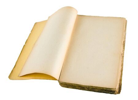 The ancient book on a light background photo
