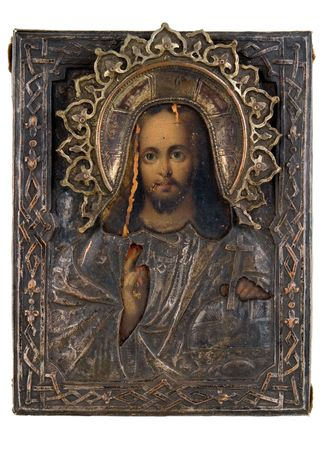 Ancient church icon. One of attributes of religion.     photo