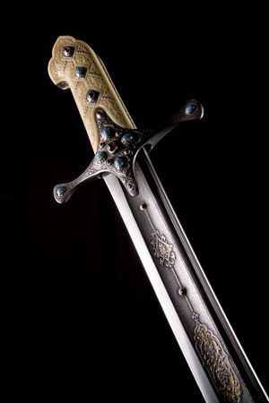 Ancient sabre. A smart variant of the fighting weapon Stock Photo