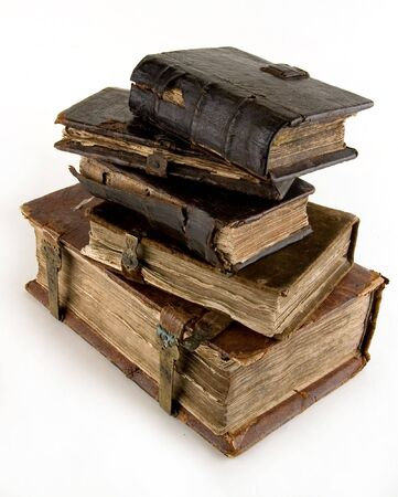 The ancient books on a light background     Stock Photo