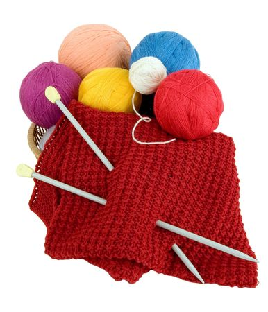 unravel: Yarn for knitting. Knitting at many people is a hobby Stock Photo