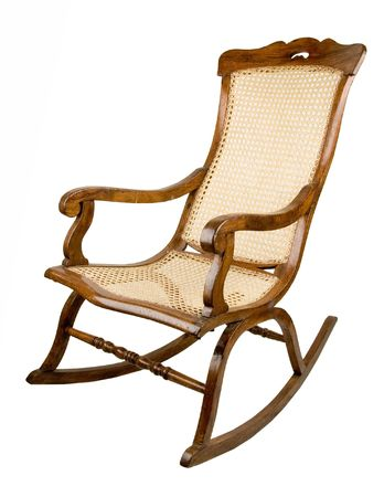 rocking chair: Ancient an armchair-rocking chair. Many people like to have a rest in it