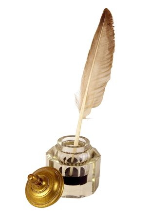 The ancient ink device. It was used the last centuries photo