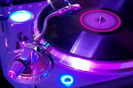 mixer: The musical equipment which is used in night clubs and discos Stock Photo