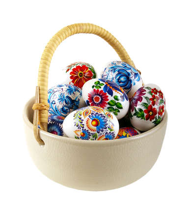The painted eggs is a symbol of a religious holiday of Easter Stock Photo - 2713123