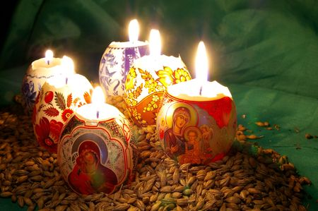 The painted eggs is a symbol of a religious holiday of Easter Stock Photo - 2713126
