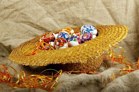 The painted eggs is a symbol of a religious holiday of Easter Stock Photo - 2713133