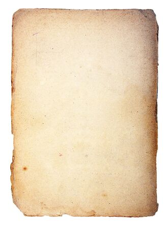 Old paper on a light background. Leaf from the religious book