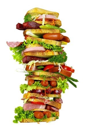 The tasty sandwich is a favourite meal for many people photo
