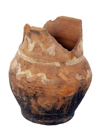 historians: The broken pot. It is interesting to historians and archeologists Stock Photo