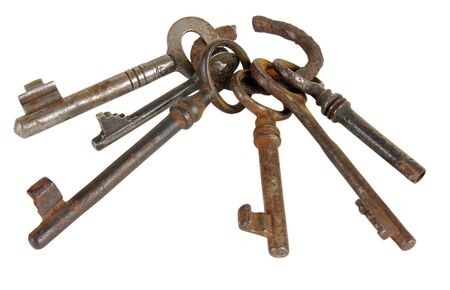 Ancient keys on a ring. Once they could open different locks