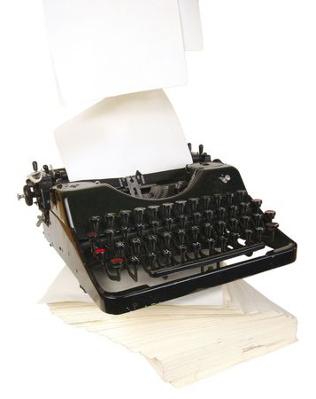The typewriter is intended to print any texts on a paper Stock Photo - 3789195