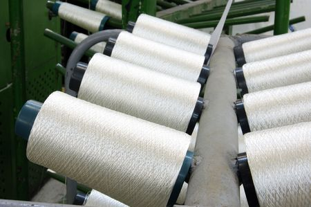 weavers: Bobbins weavers manufacture. Of these strings make a cloth