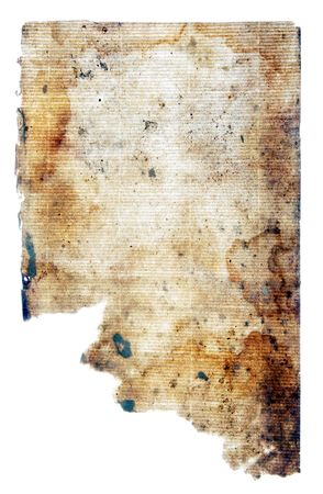 Old paper of the beginning of the last century on a white background