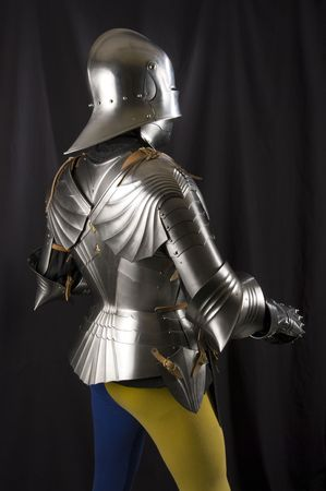 Armour of the medieval knight. Metal protection of the soldier against the weapon of the opponent Stock Photo - 7516570