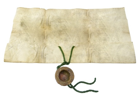 oldish: Old paper of the beginning of the last century on a white background
