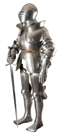 knight helmet: Armour of the medieval knight  Metal protection of the soldier against the weapon of the opponent