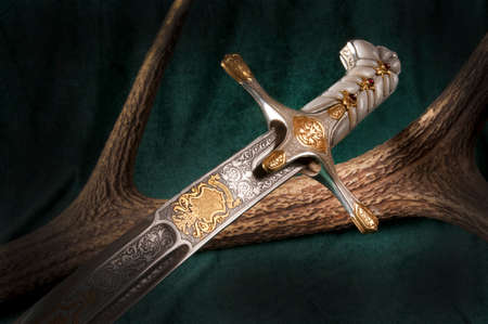 sabre: Ancient sabre. A smart variant of the fighting weapon Stock Photo