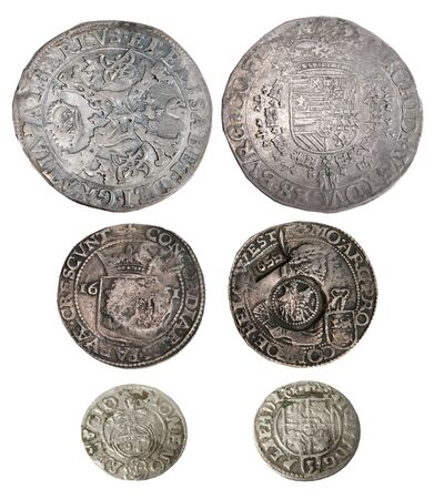 collectible: Ancient coins of different metals � collectible