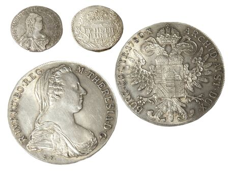 obverse: Ancient coins of different metals – collectible Stock Photo