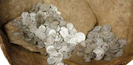 numismatics: Ancient coins of different metals � collectible