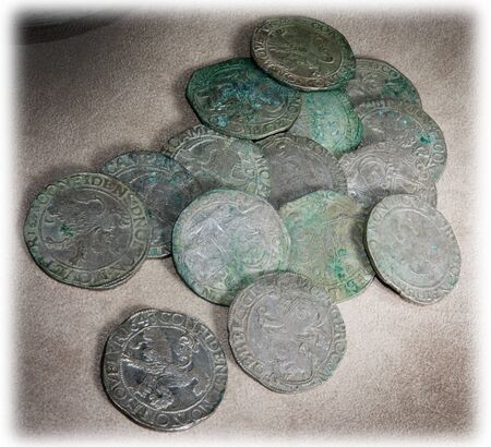 coinage: Ancient coins of different metals – collectible Stock Photo