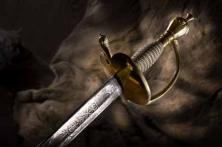 variant: Ancient sabre. A smart variant of the fighting weapon Stock Photo
