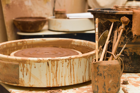 At the potters workshop