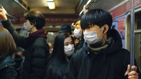 Masked Asian People Real. Protect Flu Coronavirus. Asia Health Care. Environment China Air Pollution . Protection Corona Virus Chinese. Allergy Man Respiratory Face Mask. Covid-19.