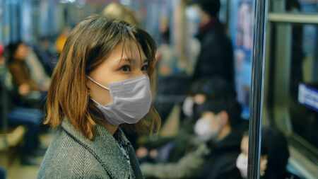 Masked Asian People Real. Protect Flu Coronavirus. Asia Health Care. Environment China Air Pollution . Protection Corona Virus Chinese Infect . Allergy Man Respiratory Face Mask. Covid-19.