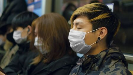 Masked Asian People Real. Protect Flu Coronavirus. Asia Health Care. Environment China Air Pollution . Protection Corona Virus Chinese . Allergy Respiratory Face Mask.