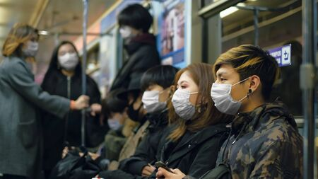 Masked Asian People Real. Protect Ill Flu Coronavirus. Asia Health Care. Environment China Air Pollution . Illness Protection Corona Virus Chinese Infect . Allergy Crowd Respiratory Face Mask. Covid19