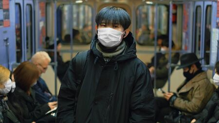 Masked Asian Man Real. Protect Ill Flu Coronavirus. Asia Health Care. Environment China Air Pollution . Illness Protection Corona Virus Chinese Infect . Allergy Person Respiratory Face Mask. 2019-ncov