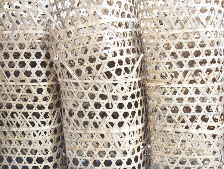 staggered: Taiwan asian Background culture brown Bamboo Flaky basket cross strip staggered outdoor more Stock Photo