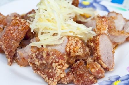 Ginger Pork Taiwanese snacks Stock Photo