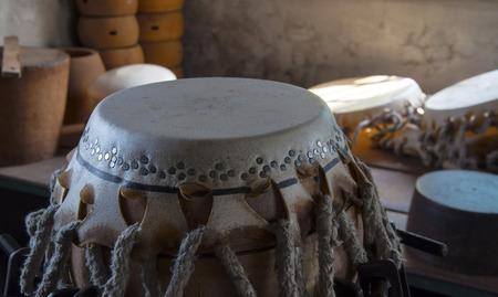 Hand made drumhead Standard-Bild - 111854593