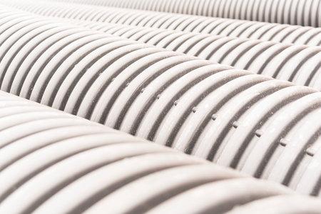 Outdoor industrial white tube arrangement