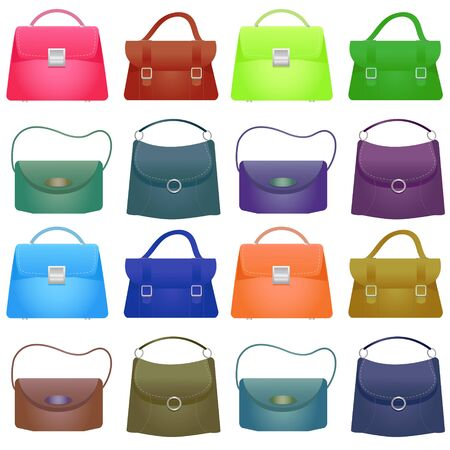 Colorful Woman bag , illustration on white background Stock Photo
