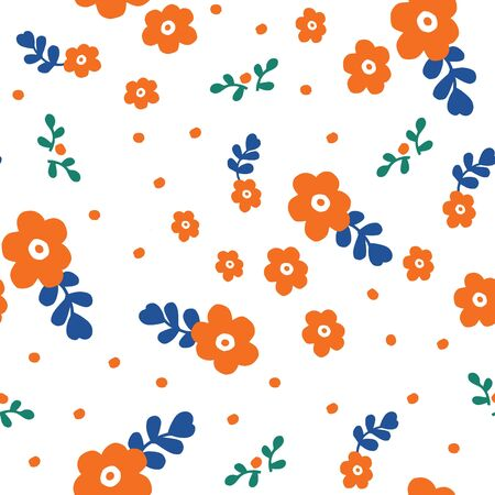 Seamless background pattern of flowers , vector illustration Illustration