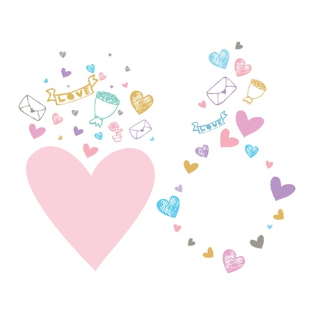 Colorful Hearts Symbol And Icon For Valentine Day vector background Illustration