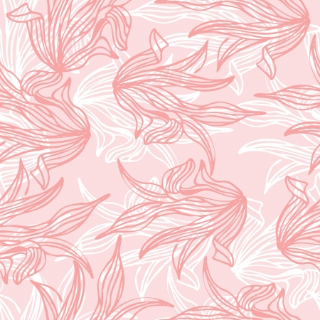 Seamless pattern of pink leaf illustration background Illustration
